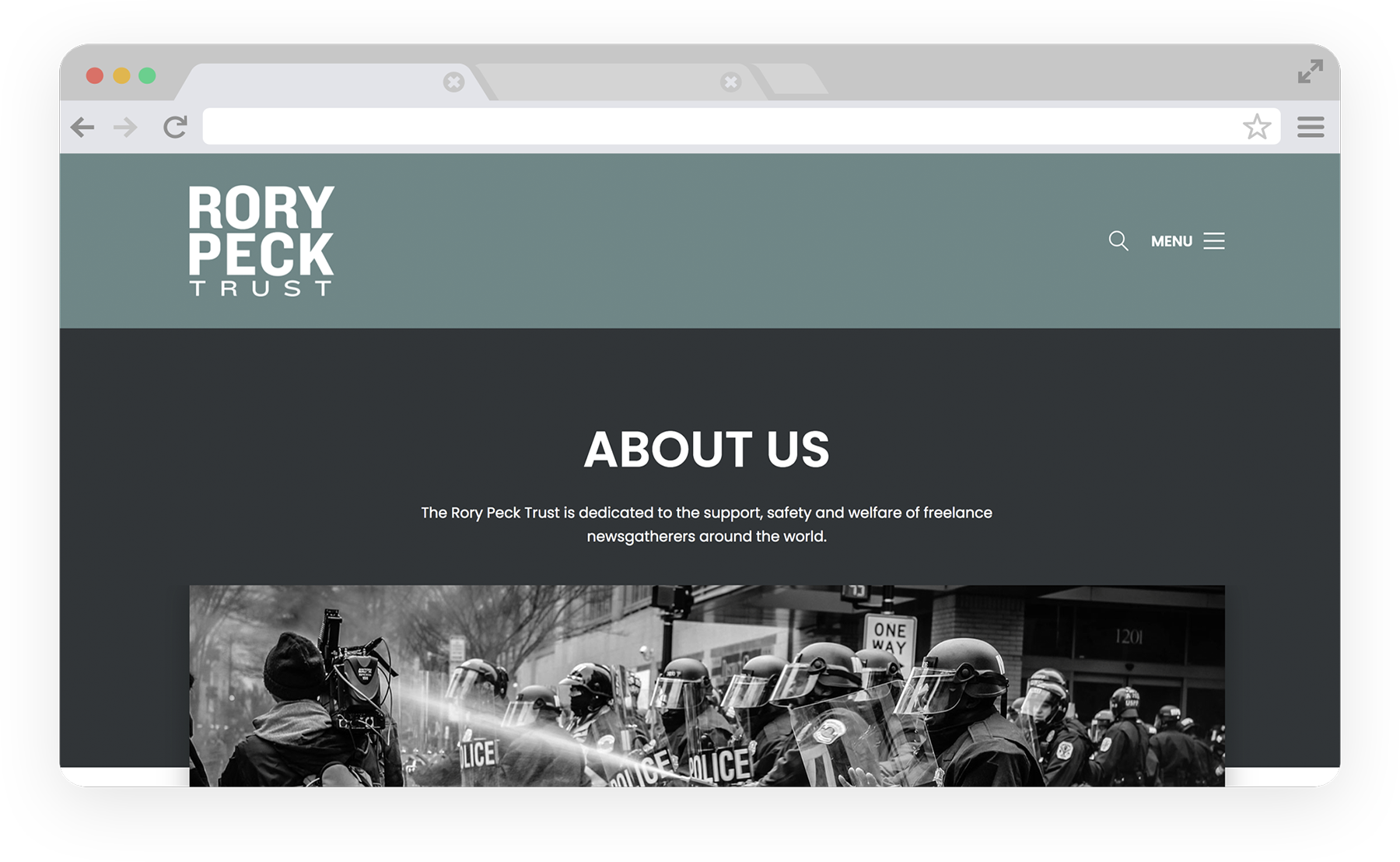 The Rory Peck Trust Desktop Screenshot 1